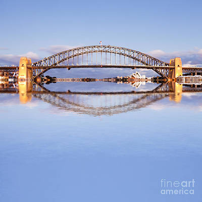 Harbor Bridge Wall Art - Photograph - Sydney Harbour Bridge At Twilight by Colin and Linda McKie