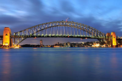 Photograph - Sydney Harbour Bridge At Twilight by Photography  By Sai