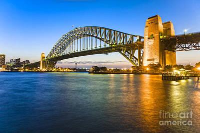 Kitchen Mark Rogan - Sydney Harbour Bridge Illuminated at Twilight by Colin and Linda McKie