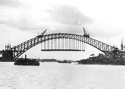 Sydney Harbour Bridge Art Print by Underwood Archives