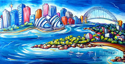 Sydney Harbour Bridge Painting - Sydney Harbour by Deb Broughton