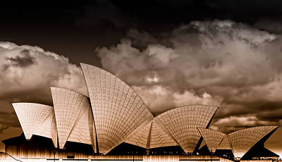 Photograph - Sydney Harbour Opera House - Bronze by Jamian Stayt