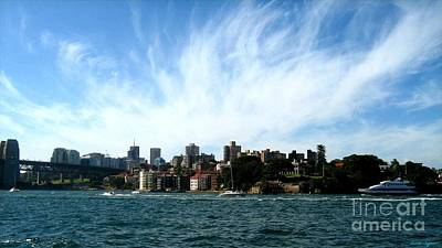 Art Print featuring the photograph Sydney Harbour Sky by Leanne Seymour