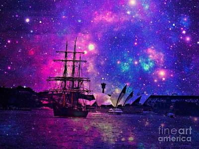 Sydney Harbour Through Time And Space Art Print
