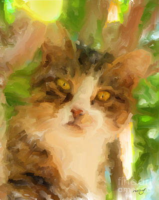 Digital Art - Sydney Kitty by Ruby Cross