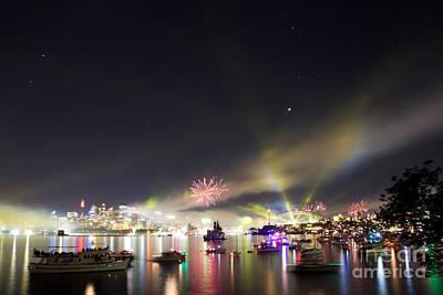 Photograph - Sydney Navy Fleet Fireworks by Miroslava Jurcik