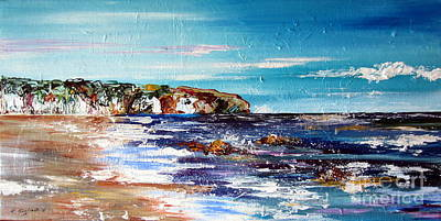 Painting - Sydney Northern Beaches Rocky Cliff Australia by Roberto Gagliardi