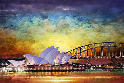 Mcdonald Painting - Sydney Opera House by Catf