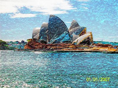 Rowing - Sydney Opera House by Gabriel Jeane