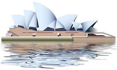 Interesting Mixed Media - Sydney Opera House by Michal Boubin