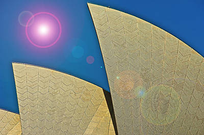 Altered Photograph - Sydney Opera House Roof Exterior by Rona Schwarz