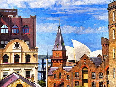 Historic Architecture Photograph - Sydney The Rocks And Opera House by Colin and Linda McKie