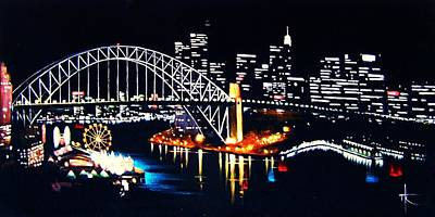 Sydney Skyline Painting - Sydney by Thomas Kolendra
