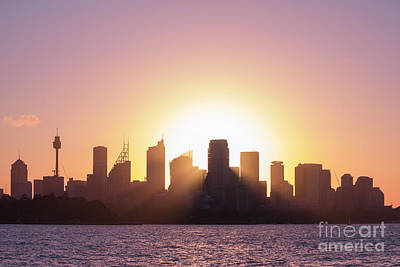 Print featuring the photograph Sydney's Evening by Jola Martysz