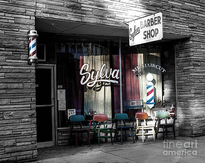 Sylva Barber Shop - 2008 Art Print