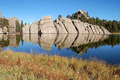 Photograph - Sylvan Lake In Autumn by Dakota Light Photography By Dakota