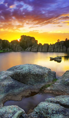 Photograph - Sylvan Lake Sunset by Kadek Susanto