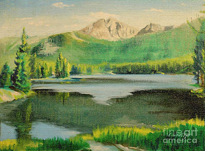 Painting - Sylvans Lake - Wyoming 1946 by Art By Tolpo Collection