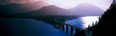 Curving Road Photograph - Sylvenstein Lake Bavaria Germany by Panoramic Images