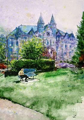 Painting - Sylvester Park by Zaira Dzhaubaeva