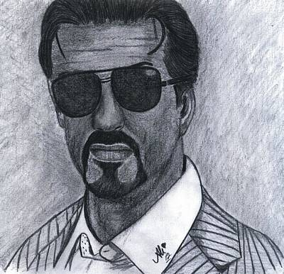 Sylvester Stallone Drawing - Sylvester Stallone by Bobby Dar