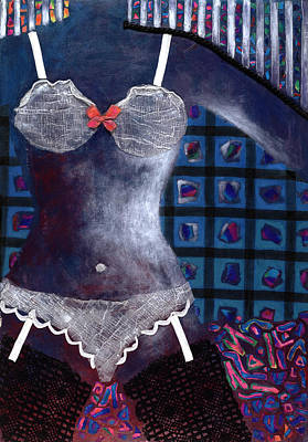 Undressing Mixed Media - Sylvie by Diane Fine