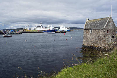 Photograph - Symbister Harbour by Steve Watson