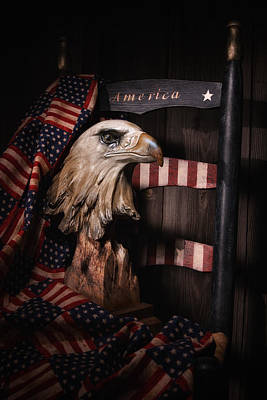 Fabric Photograph - Symbol Of America Still Life by Tom Mc Nemar