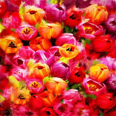 Tulips Photograph - Symbol Of Love by Lourry Legarde