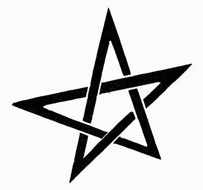 Pentacle Painting - Symbol Pentacle by Granger