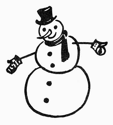 Painting - Symbol Snowman by Granger