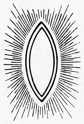 Symbol Vesica Piscis Art Print by Granger
