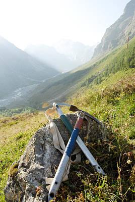 Outdoor Graphic Tees - Symbols of mountaineering by Nikita Buida