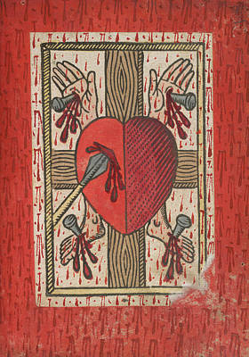 Symbols Of The Passion Art Print by British Library