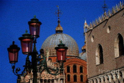 Photograph - Symbols Of Venice Through Crackled Glass by Jacqueline M Lewis