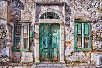 Old House Photograph - Symi by Delphimages Photo Creations