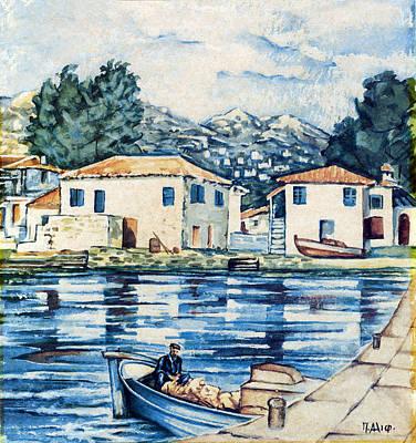 Symi Painting - Symi by Takis Alifragis