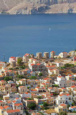 Symi Photograph - Symi Town, Symi Island, Dodecanese by Peter Adams