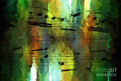 Art Print featuring the digital art Forest Figures by Lon Chaffin