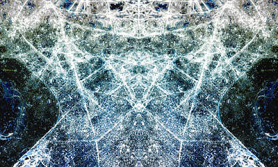 Kaleidescope Photograph - Symmetry In Ice by Hal Halli