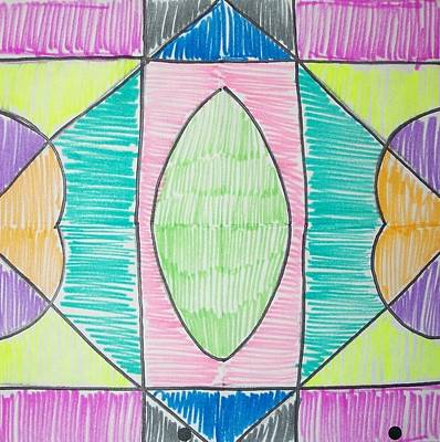 Drawing - Symmetry Project by Liz Adkinson