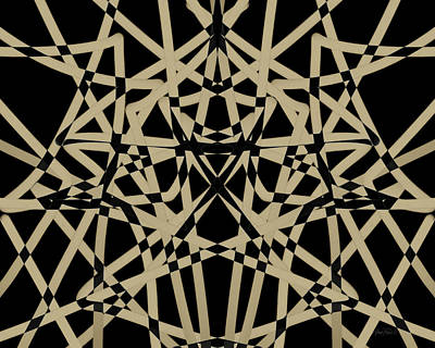 Painting - Symmetry On Black - Abstract - Art by Ann Powell