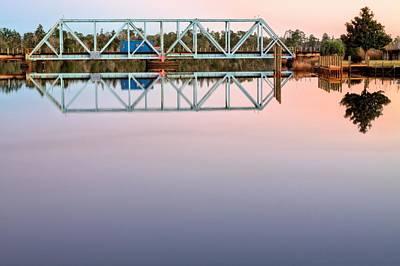 Symmetry On The Black Water River Art Print