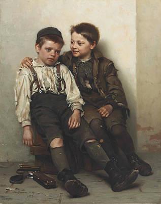 Sympathy Painting - Sympathy by John George Brown