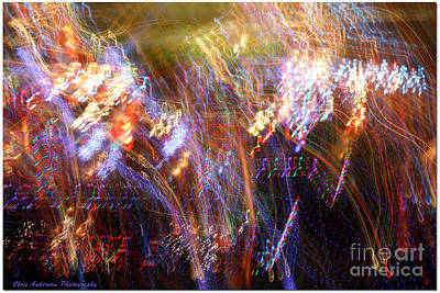 Photograph - Symphonic Light Abstraction  by Chris Anderson