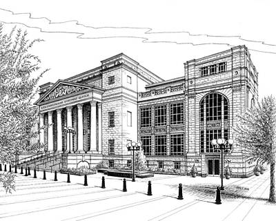 Drawing - Symphony Center In Nashville Tennessee by Janet King