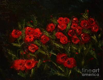Symphony In Coquelicot Art Print by Denise Tomasura