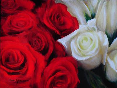 Da143 Symphony In Red And White By Daniel Adams Art Print