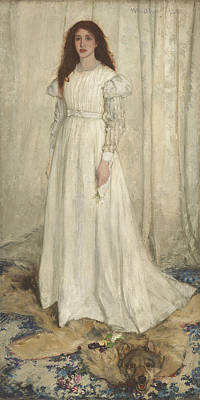 Symphony In White No 1 The White Girl Art Print by James Abbott McNeill Whistler