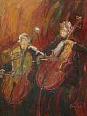 Chello Painting - Symphony  by Jamie P
